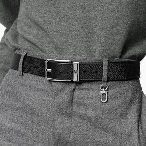 LV belt - black and silver
